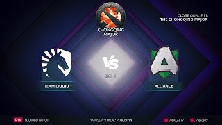 [RU] Team Liquid vs Alliance | Bo3 | The Chongqing Major Europe Qualifier by @Tekcac