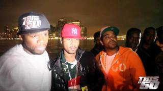 50 Cent with Juelz Santana and Jim Jones - Thisis50 Festival | Interview | 50 Cent