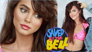 """kelly kapowski """"saved by the bell"""" makeup hair & outfits!"""