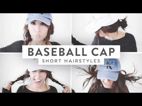 3 Baseball Cap Hairstyles! | Medium Short Hair ♡