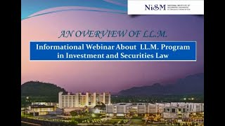Webinar on LL.M (Investments and Securities Law)