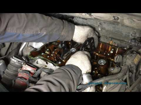 Фото к видео: Замена цепи ГРМ и колпачков CITROEN C4 Picasso, мотор EP6DT