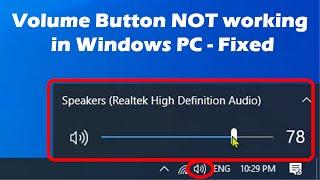 Volume icon NOT working in Windows - Quick Fix