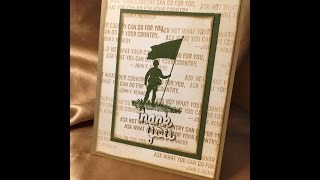 Veterans Day Card, Stampin'Up!
