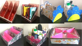 4 Recycled DIY _ Multi Purpose Organizer From Empty Corn Flakes Box / Cereal Box