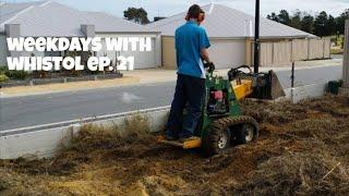 Landscaping Using A Dingo / Mini Skid Steer