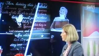 Clinton Trump USA election in Swedish TV
