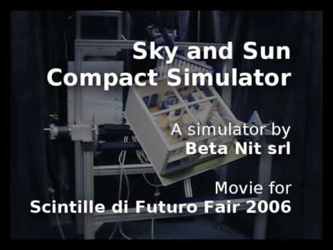 Prototype of a new artificial sky developed by Beta Nit.