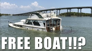 Acquiring a Sunken Derelict Vessel for Free