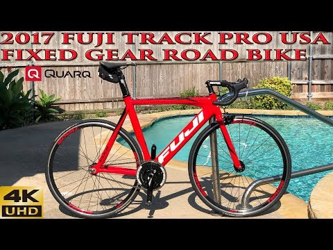 2017 Fuji Track Pro USA Fixed Gear Road Bike with Quarq Power Meter