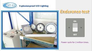 【Video】UL / IECEx / ATEX Explosion-proof LED Lighting 2 million times Power cycle test.