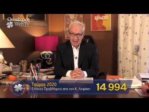 Ταύρος 2020 Ετήσιες Προβλέψεις Κώστα Λεφάκη σε βίντεο
