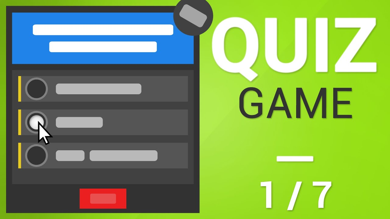 Unity Tutorial - How to create a Quiz Game [Part 1/7] - UI