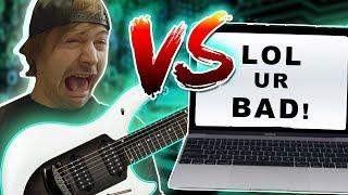Real Guitarist VS Computer Guitar