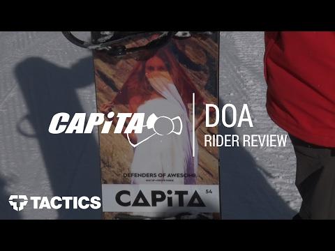 Capita DOA 2018 Snowboard Rider Review – Tactics.com