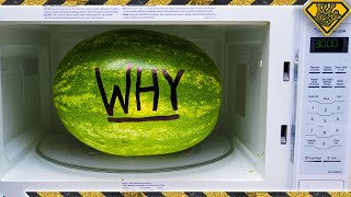 We Microwaved a Watermelon for Half an Hour!