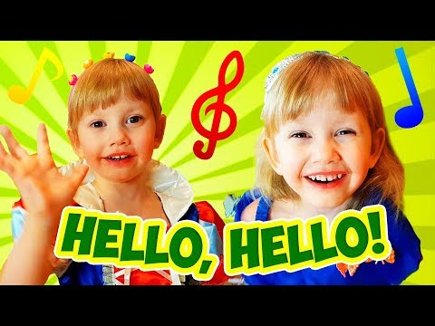 Hello Hello Song With Alena And Pasha + More Nursery Rhymes Songs Compilation By Chiko TV Mp3