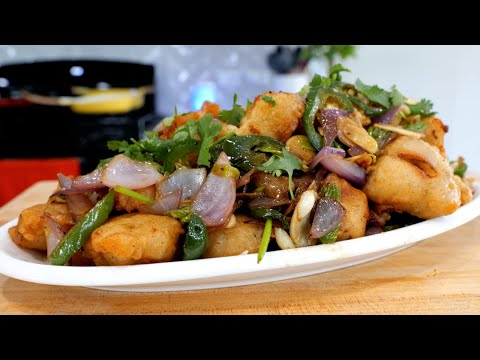 The BEST Spicy Garlic Crispy Fried Chicken Bites Recipe I Ever MADE