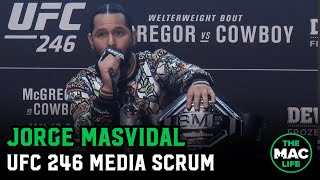 Jorge Masvidal talks Conor McGregor, Kamaru Usman and predicts UFC 246 Main Event