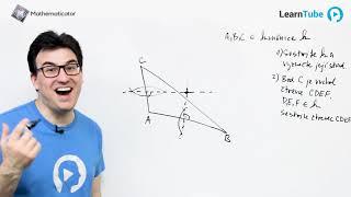 Přijímačky na střední školy 10 - Konstrukční úloha 2 - Kružnice opsaná