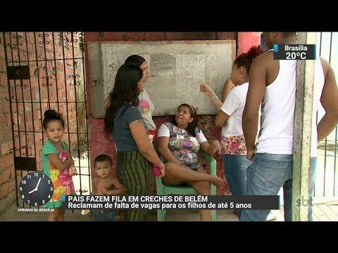 Em Belém, pais enfrentam até três dias de fila por vaga em creche   SBT Brasil (03/01/18)