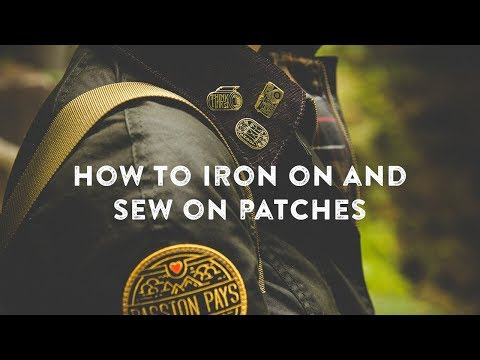 How to Iron On Patches (and Sew On) by Asilda Store