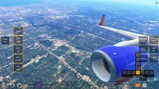 Infinite Flight global. Southwest airlines flight 2203 take off from Chicago Midway airport.