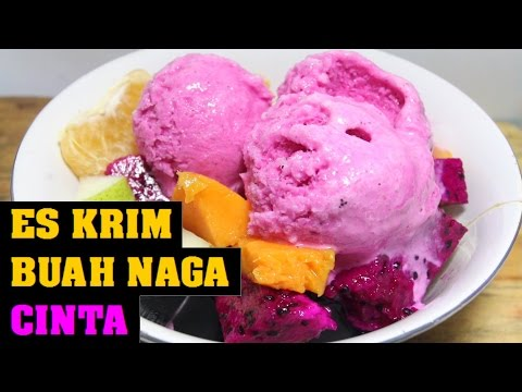 Video Resep Es Krim Buah Naga Cinta