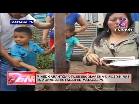 MINED entrega útiles escolares a niños afectados por desbordamiento del Río Grande de Matagalpa