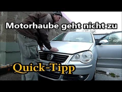 VW Polo 9N  --  Motorhaube einstellen
