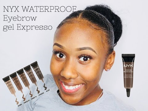 NYX WATERPROOF BROW GEL | REVIEW | EYEBROW TUTORIAL FOR BEGINNERS