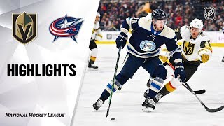 NHL Highlights | Golden Knights @ Blue Jackets 11/05/19