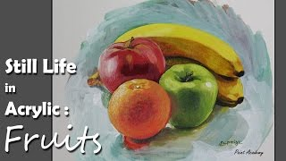 Acrylic Painting : Fruits | step by step Still life painting | Kholo.pk