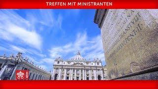 Papst Franziskus - Treffen mit Ministranten 2018-07-31