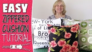 EASY Zippered Cushion Cover Tutorial