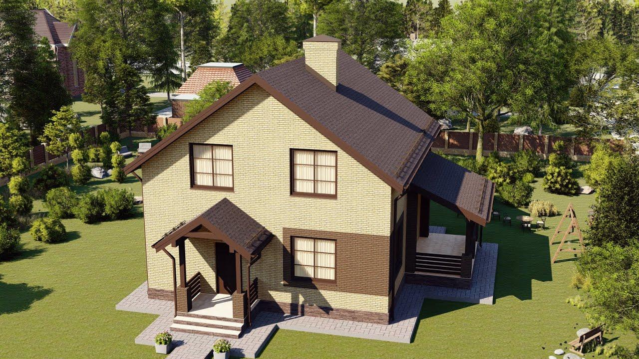 Проект дома с мансардой 150 кв м