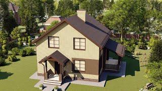 Проект дома 153-J, Площадь дома: 153 м2, Размер дома:  10,9x9,3 м