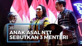 Reaksi Lucu Anak Asal NTT saat Diminta Jokowi Sebutkan 3 Nama Menteri: Pak Jendral, Menteri Agama