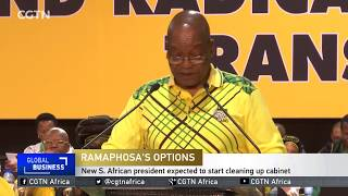 New South African president expected to start cleaning up cabinet