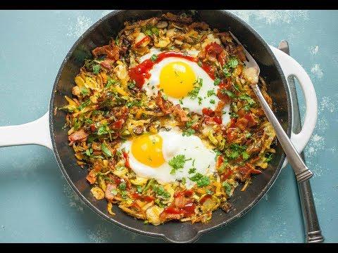 Crispy Brussels Sprouts Breakfast Skillet