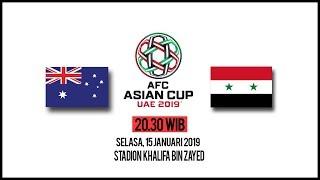 Live Streaming Piala Asia 2019 Australia Vs Suriah, Selasa Pukul 20.30 WIB