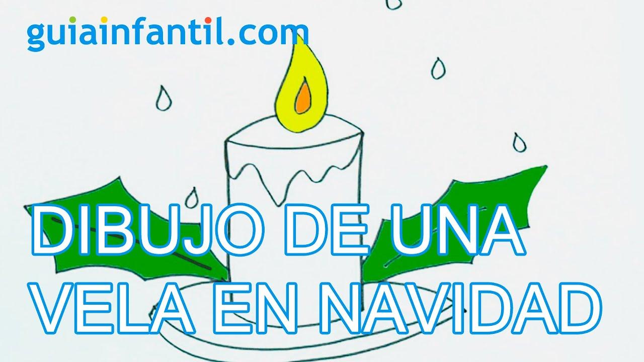 Cómo dibujar un vela de Navidad con lo niños