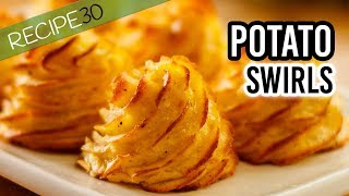 Buttery Potato Swirls known as Pommes Duchesse