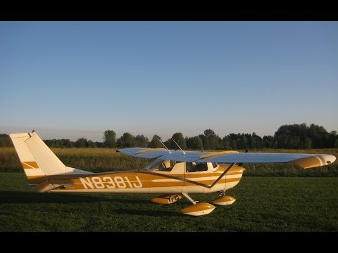 Cessna 150 STOL in Backyard Flying, Pilot Darrell Witham in N8381J, & Stall Demo, GoPro Awesome