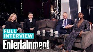 'No Time To Die' Cast Daniel Craig, Rami Malek, Léa Seydoux & Lashana Lynch | Entertainment Weekly