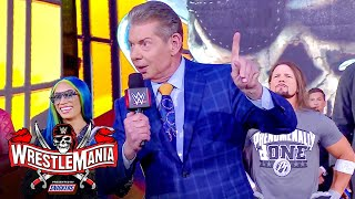 Sasha Banks Thanks Vince McMahon For WrestleMania 37