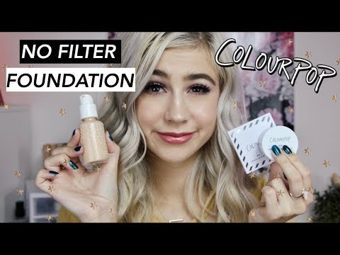 COLOURPOP NO FILTER FOUNDATION & FACE POWDER REVIEW    I'M SHOOK | FAITH ROBERTSON