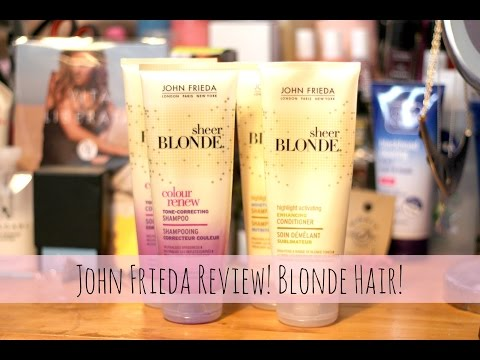 John Frieda Tone-Correcting & Highlight Activating Products ♡Review♡ Blonde Hair ♡