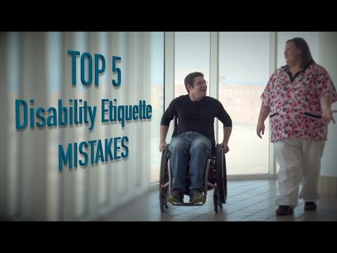 Top 5 – Mistakes dealing with disabled people