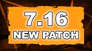 Dota 2 NEW 7.16 PATCH - Main Changes!